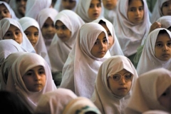 Girls in a religious girls school in Tehran.